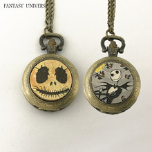 FANTASY UNIVERSE Freeshipping wholesale 20pc a lot The nightmare before Christmas pocket watch necklace Dia2.7CM RSDWSXS01