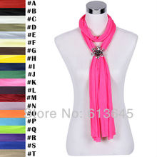 Novelty Magnet Flower Pendant Scarf, Jewelry Necklace Scarves for Women, Free Shipping, SC0019