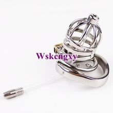 Buy Stainless Steel Small Male Chastity Belt Adult Cock Cage arc-shaped Cock Ring Sex Toys Men Chastity device