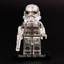 SW188 Transparent Stormtrooper 10212 Imperial Shuttle Single Sale Star War Action Figures Building Blocks Best Chilren Gift Toys