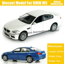 1:36 Scale Diecast Alloy Metal Sports Car Model For TheBMW M5 Collection Model Pull Back Toys Car - White / Blue / Red / Black