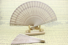 (100 pieces/lot) New Chinese sandalwood fans Fancy wedding fans Event and party favors