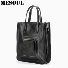 High Quality Handbags Designer Women Top-Handle Bags 100% Real Leather Shoulder Bag Fashion Business Ladies Office Bag Briefcase(China)