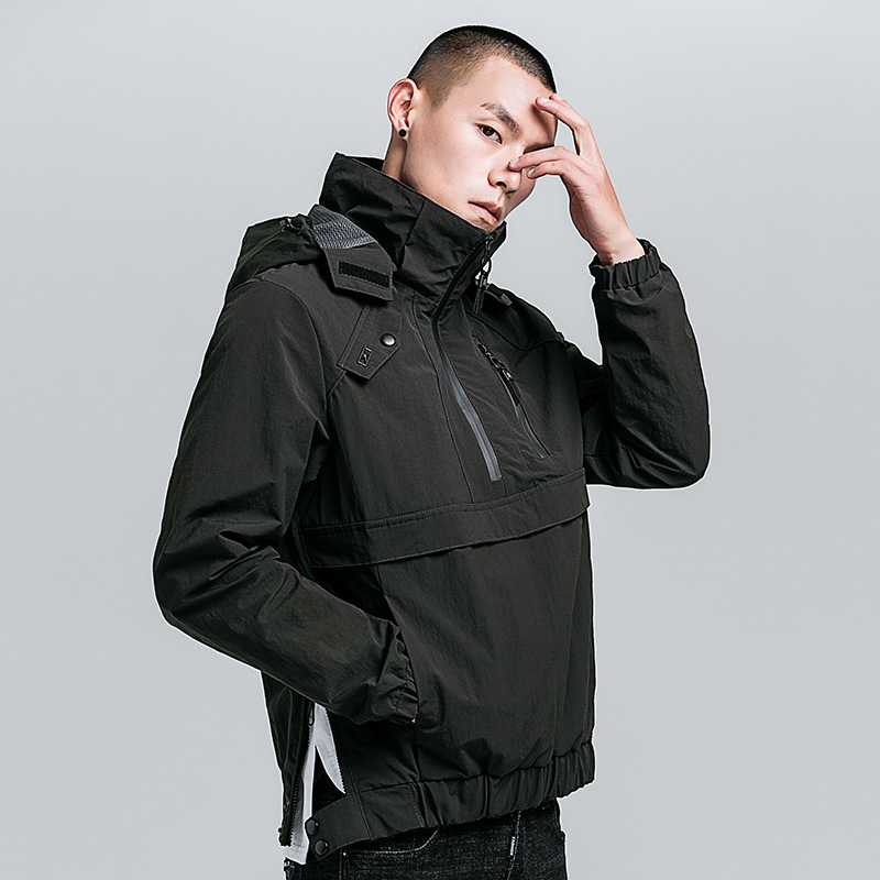 Men Windbreaker Jackets Waterproof Pullover Style Jacket and Coat for Men 100
