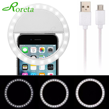 Nieuwe USB Charge Selfie Ring Licht Draagbare Flash Led Camera Telefoon Fotografie Enhancing Fotografie voor Smartphone iPhone Samsung(China)