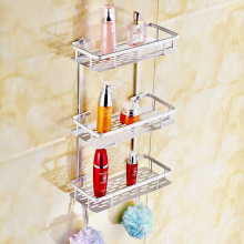 Best Quality Aluminum 1 2 3 Tier Home Kitchen Bathroom Shower Storage Shelf Caddy Basket Tidy Organizer Rack