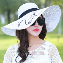 topee ethnic style all-match pleasantly cool sun hat sandy beach cap fashion big blue bow flower foldable