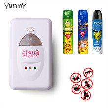 1 Pc 100% Effective Safe Ultrasonic Electronic Pest Repeller Killer Insect Rodent Mosquitoes Rat Cockroaches Control Pest Reject(China)