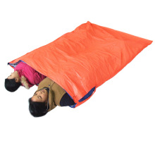240g Outdoor Envelope Double Sleeping Bag Camping Hiking Sleeping Bag 200 * 145cm Adult Double Persons 3 Seasons Waterproof