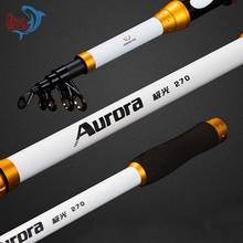 New 6-Section Winter Fishing Rods Travel Spin Rod Hard Telescopic Sea Rod 2.7M Surf Fishing Rod Fish Supplies