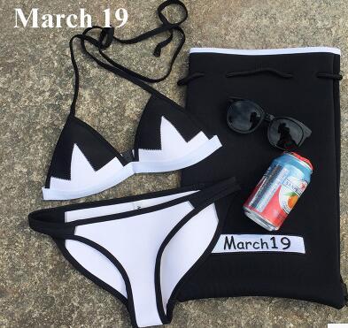 2017 14 nakd 8 colors handmade femalcrochet bikini bandeau bow halter swimwear Women Floral bottom swimsuit hot summer suit<br>
