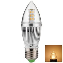 New Arrival 2 Light colors E27 5W 28 x SMD 2835 6500K 420Lm High Brightness Energy Saving Silver Fin LED Candle Light