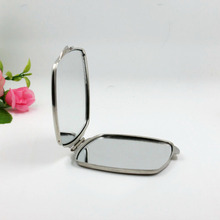 100x Customized Logo Square Compact Mirror Cosmetic Makeup Mirror Purse Mirror Corporate Promotional Gift for Women Girls Ladies(China)
