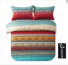 Modern Folk Style Boho Bedding Set Designer Colorful Bohemian Duvet Covers Fashion European Country Style Duvet Cover Sets