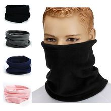 1PC 3in1 Winter Unisex Women Men Sports Thermal Fleece Scarf Snood Neck Warmer Face Mask Beanie Hats(China)