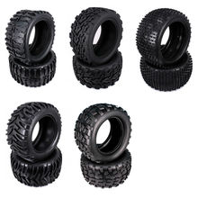 Natural Rubber Tire Tyre For Rc Car 1/10 Monster Truck Big Foot Truggy HSP Himoto HPI Traxxas Redcat Kyosho Model Car 08009(China)