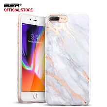Case for iPhone 8/8 Plus, ESR Marble Pattern Anti-scratch Ultra-Thin Slim Fit Soft TPU Case Cover for iPhone 8/7/7 Plus/8 Plus(China)