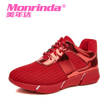 Monrinda New Brand Sport Shoes Woman Running Fily Weave Breathable Sneakers Outdoor Walking Shoe Zapatillas Mujer Deportivas