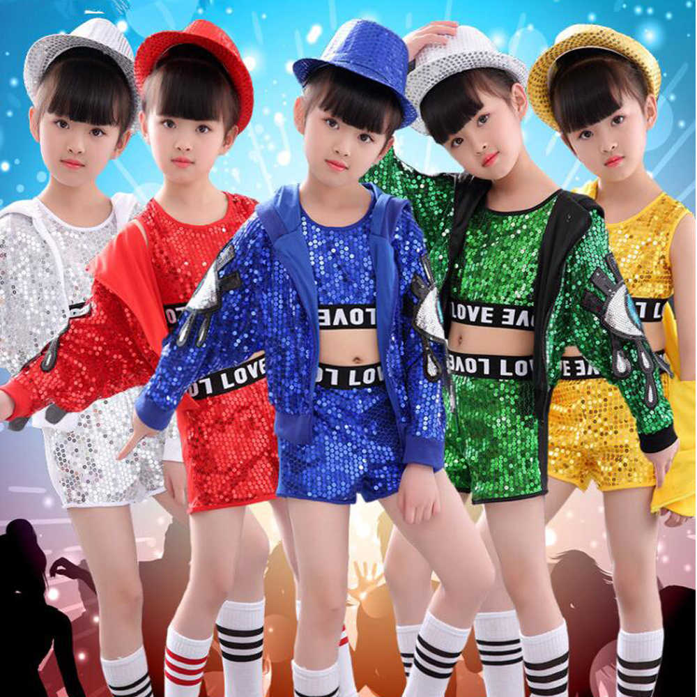90b667b6b Detail Feedback Questions about Tops+Pants+Coat Children Jazz Dance ...