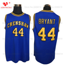 Cheap Crenshaw High School #44 BRYANT Jersey Throwback Basketball Jersey Vintage Retro Basket Shirt For Men Stitched Blue(China)