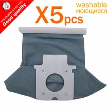5pcs/lot Vacuum cleaner bag Hepa filter dust bags cleaner bags For Panasonic MC-CG381 MC-CG383 MC-CG461 Vacuum Cleaner Parts(China)