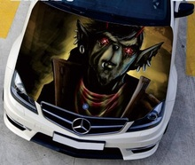 EMS Shipping DIY Camouflage Protective Film Car Engine Hood Sticker Monster Game Styling Head Decal Decor Vinyl Waterproof