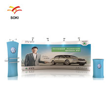 5x2.2m OEM Size Straight Exhibition Booth Pop Up Display Stands For Trade Show Events and Advertising Backdrop Wall Banner