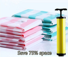 2017 New Vacuum compression bags 13 piece set hand pump  Home organizer Space clothing quilt storage bag vacuum bag