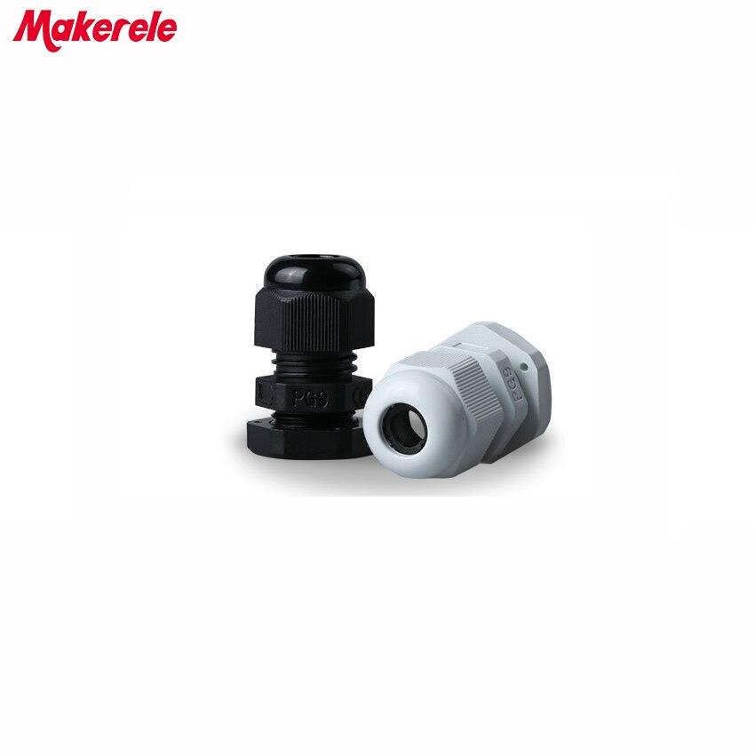 PG21 10pcs Set PG7-PG21 Nylon blanco//Conector de cable de pl/ástico IP68 Conector de prensaestopas