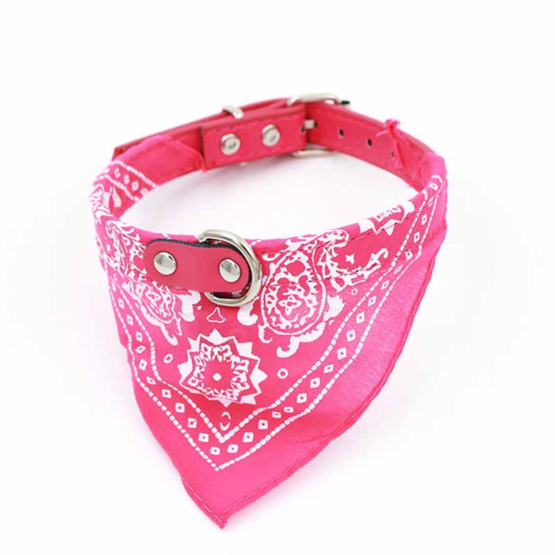 SYDZSW 7 Colors PU Pet Collar Dog Scarf Saliva Towel Leather Dog Collor Lead for Cats Chihuahua Products for Small Large Dogs8