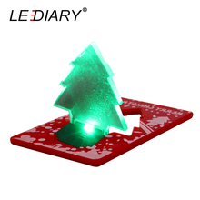 LEDIARY 10Pcs/lot LED Portable Card Lamp Tree Shape Same Size As Credit Card In Wallet For Christmas/Festival Decoration(China)