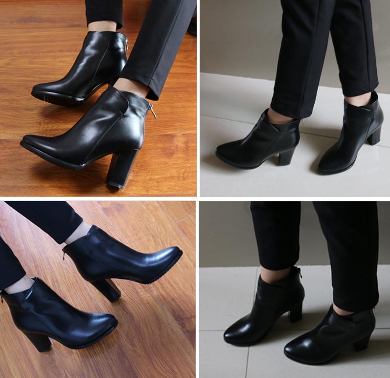 Mustad tagant lukuga saapad