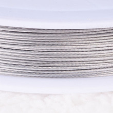 Stainless Steel Wire 0.45mm Tigertail Beading Wire Thread Cord With Plastic Protective Film Wire For Diy Jewelry Making(China)