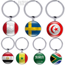 Buy 2018 Russia World Cup Hot Football Keychains Key ring Strog 32 Countrys Peru Sweden Tunisia Senegal Soccer Key Chains Souvenir for $1.45 in AliExpress store