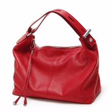 ZENCY Genuine Leather Women OL Stylish Shoulder Tote Bags Real Leather Handbags For Ladies Female Girl Casual Bags(Hong Kong)