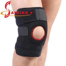 SAIBIKE brand 1pcs Adjustable Training Sports Knee Pad Firm Fastening Tape Knee Sleeve Brace Patella Protector Sport Safety