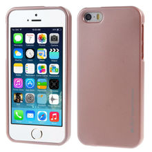 Original Brand Metallic Finish Cell Phone Case For Apple iPhone 5 5S SE Matte Soft TPU Silicone Jelly Gel Protective Cover(China)