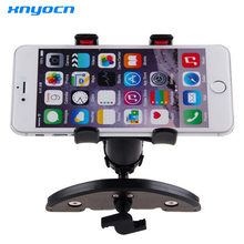 Universal CD Slot Car Cell Phone Holder Mount For iPhone SE 7 6S Plus For Samsung Galaxy S6 S7 Mobile Phone GPS Bracket Stands