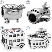 Flying Aeroplane London Double Decker Bus All Aboard Cruise Ship Beads Fit  Pandora Bracelet 925 Sterling Silver Charm Jewelry-in Beads from Jewelry ... 934fca76b2f0