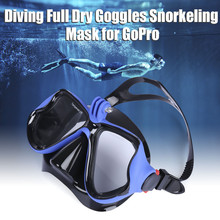 Professional Underwater Diving Mask Scuba Snorkel Swimming Goggles Full Dry Eyewear for Underwater Camera Water Sports Equipment(China)