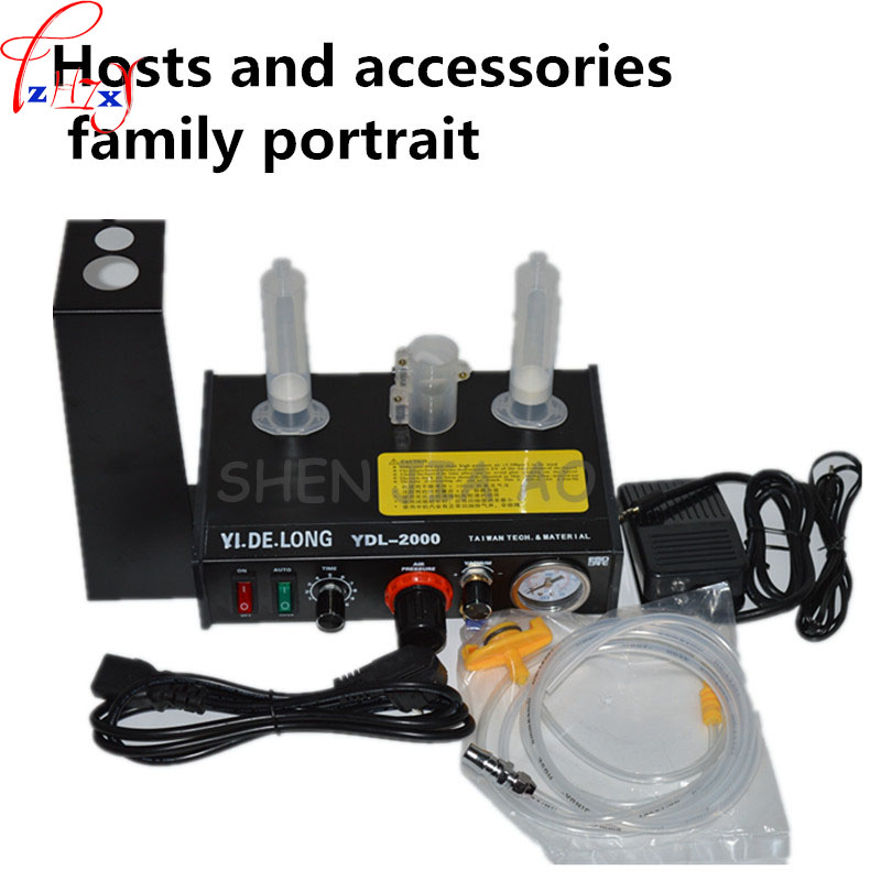 1PC 110/220V  YDL-2000 Semi-automatic Glue Dispenser AB UV Glue Dispenser Solder Paste Liquid Controller for SMD PCB<br>