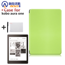 case for Kobo Aura One 7.8 inch eBooks Case slim PU leather smart cover  + protector film + stylus