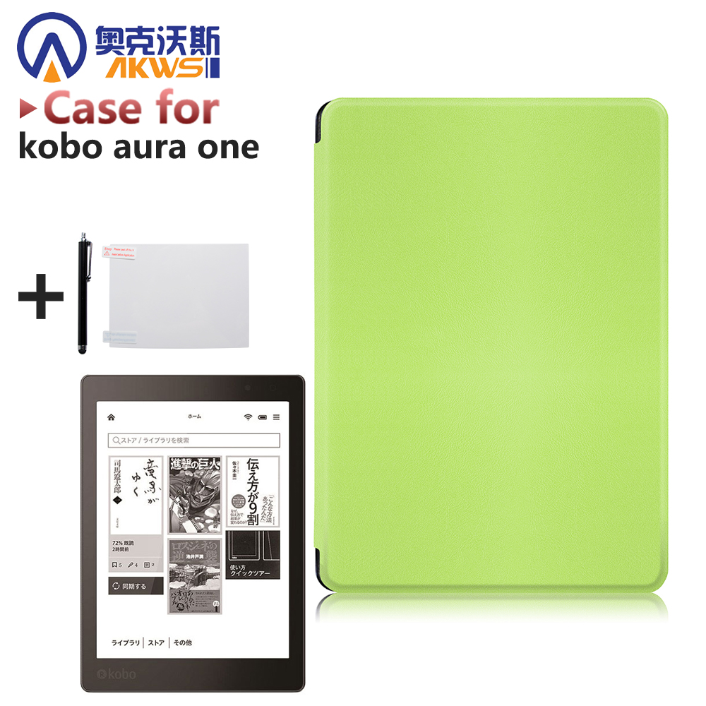 case for Kobo Aura One 7.8 inch eBooks Case slim PU leather smart cover  + protector film + stylus<br><br>Aliexpress