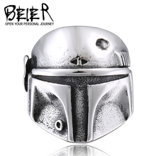 BEIER Star Wars Clone Trooper Ring Stainless Steel New Designed Movie Jewelry Unique Gift For Friend BR8-293