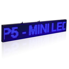 50cm P5 SMD Led Sign Android Phone WIFI Remote Control Programmable Scrolling information Message LED Advertising Display Board(China)