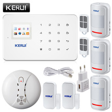 KERUI G18 English/Russian Voice GSM Alarm Autodial Home Security and Fire Protection Alarm System iOS Android App Sensor