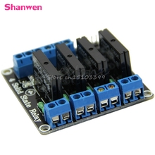 5V 4 Channel OMRON SSR High Level Solid State Relay Module 250V 2A #G205M# Best Quality