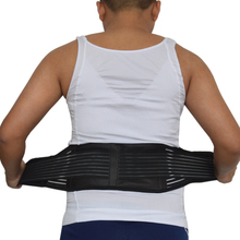 Plus size XXXL Tourmaline Self-heating Magnetic Therapy Waist Support Belt Double Banded Belt Lumbar Back Waist Support Brace(China)