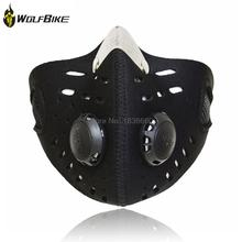 High quality WOLFBIKE Air Filter cycling Face Mask can Washing Road Mouth-Muffle Dustproof Masks Bicycle Protect cover