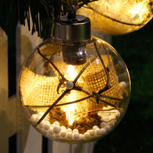 MUQGEW  Xmas Party Garden DecorMerry Christmas Tree Bulb Light Ball Ornament Wedding Party Xmas Garden Decor  Drop Shipipng